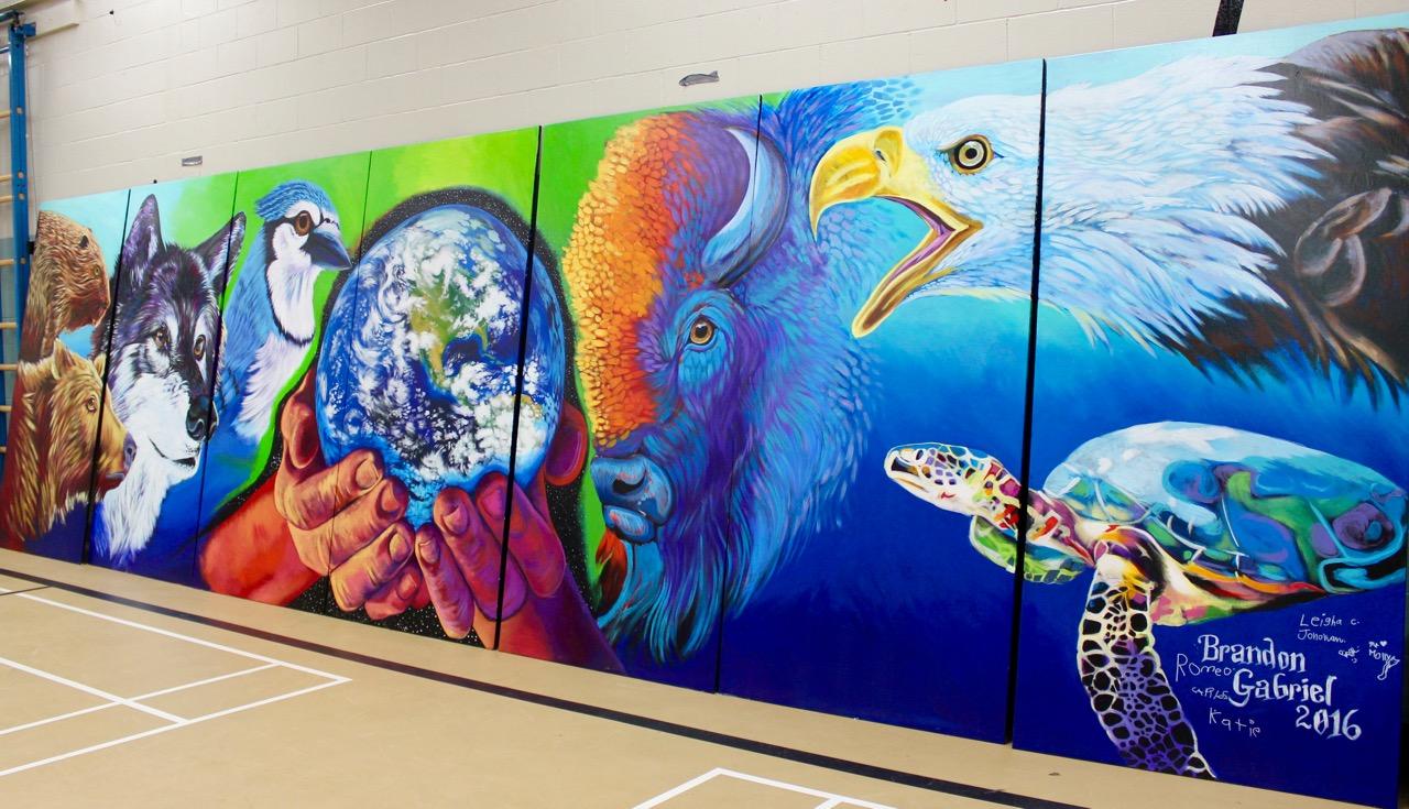 new mural at douglas park