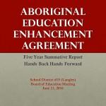 Reg_Aboriginal Ed Enhancement Agreement 2010_2015 Final Rep_ 2016Jun21_page1